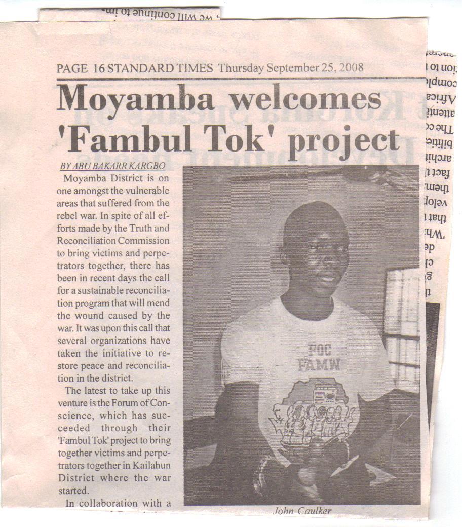 Moyamba launch, Std. Times, p. 1