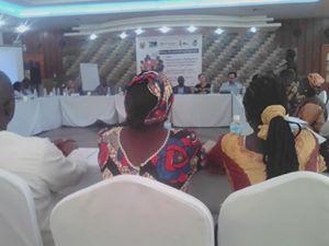 Meeting in progress at Bintumani hotel