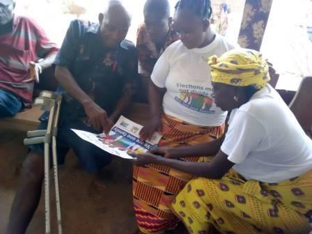 Peace mothers sensitising people