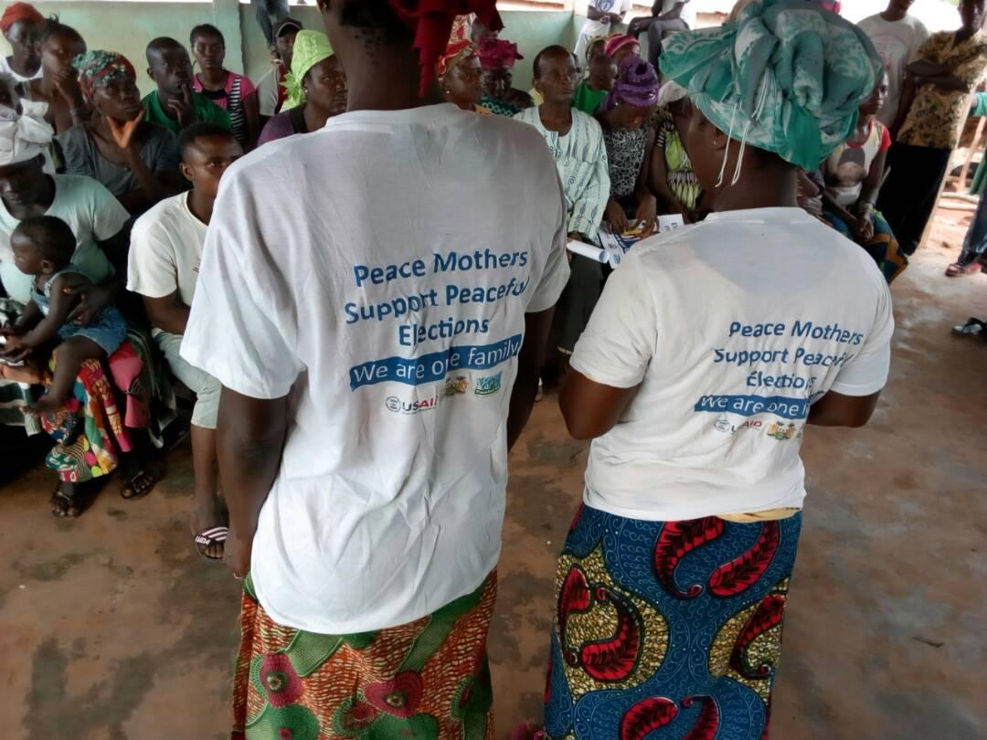 Peace Mothers on community sensitization